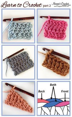 Learn to Crochet Part 2: Crochet Next Steps Tutorial y video right and left hands - Teresa Restegui http://www.pinterest.com/teretegui/ ✔