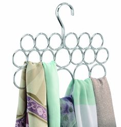 Keep every closet in the house well organized with this handy scarf holder.  The scarf holder features 18 compartments that offer storage for scarves,  ... e6f215e8ccf