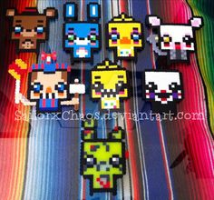 Five Nights At Freddy's 2 perlers(plus Springtrap) by SailorxChaos