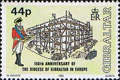 Gibraltar 1992 Anglican Diocese Fine Mint SG 684 Scott 620 Other European and British Commonwealth Stamps HERE!
