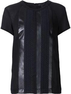 コントラストパネルTシャツ