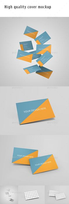 3 Business Card Mockups - High quality business card mock-ups, perfect for customizing and easy to adapt to your needs #business #card #mockup