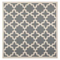 5'3x5'3 Safavieh Courtyard Anthracite / Beige Rug | Wayfair $62