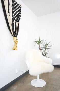 Homepolish Interior Design | We've never met anyone that gets mad at a shearling-covered chair. Have you?