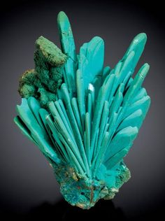 Chrysocolla ps. after Azurite - Bagdad Mine Bagdad, Eureka District, Yavapai Co., Arizona, USA Size: 10.1 cm h