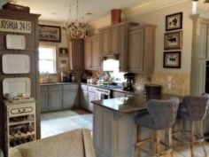 Angela Leachman painted her kitchen cabinetry in French Linen.  She sealed her new paint finish with heat resistant, matte finish, bio-based Clear Topcoat Sealer by Artisan Enhancements.