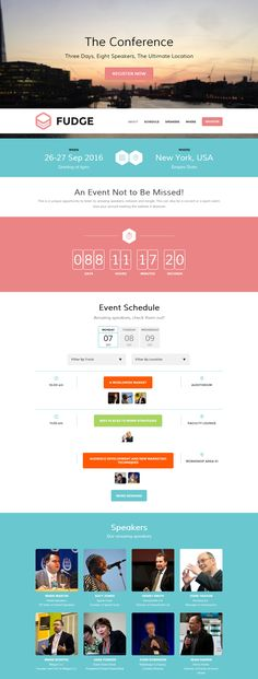 WordPress themes for Event Websites