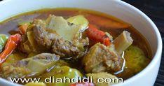 Blog Diah Didi berisi resep masakan praktis yang mudah dipraktekkan di rumah. Indonesian Recipes, Indonesian Food, Asian Recipes, Ethnic Recipes, Diah Didi, Pot Roast, Pork, Menu, Carne Asada