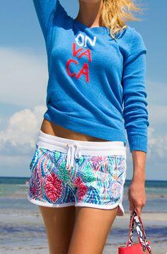 Lilly Pulitzer Sybil Intarsia Sweater & Chrissy Beach Short