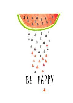 Illustration mit Melonen, Sommer, Wanddeko / summerly illustration, watermelon, art made by Haus nr. Rosas Vector, Watermelon Art, Watermelon Quotes, Illustrations Posters, Illustrations Vintage, Cute Wallpapers, Diy Art, Hand Lettering, Iphone Wallpaper
