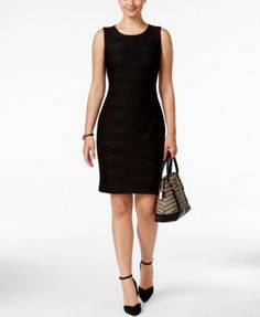 TOMMY HILFIGER Tommy Hilfiger Textured Sheath Dress, A Macy's Exclusive Style. #tommyhilfiger #cloth # dresses
