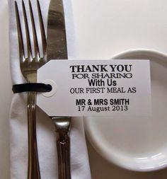 Costa Rica Wedding Ideas - Favors -  Fork tags - Great Destination Wedding Favor.