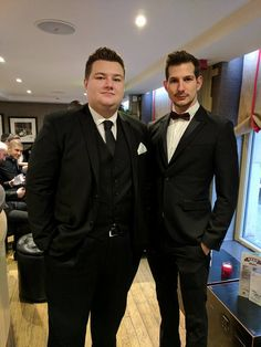 A couple of our #GetYourMobi design team at the 2016 Christmas office party all suited and booted! #Christmas #OfficeParty