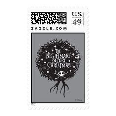 Nightmare Before Christmas Holiday Wreath Postage