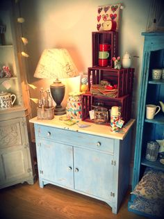 Pretty seaside inspired cabinet