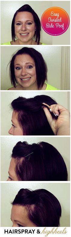 Easy Twisted Side Poof Hair Tutorial | #HairoftheDay