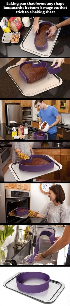 Too cool! Flexible Baking Molds  (this is awesome, got to get me one.)