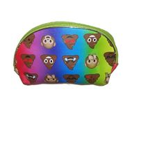 Emoji Reusable Tote Poop Bag Face Novelty Cosmetic Purse Carry All Women Kids  #Emoji #Pouch
