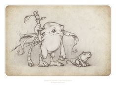 a Runnerbean and a Snifflehog by thePicSees on deviantART