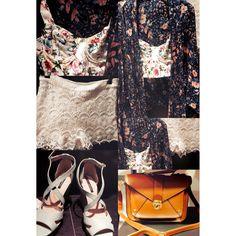 Flowers. #kawaii #bra #shorts #shoes #bag #kimono #cardigan #outfit #clothes #fashion @pullandbear #cute