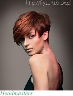 Katalog fryzur : modne fryzury z grzywką, długie,średnie, na studniówkę, ślubne, 2013/2014: Krótkie włosy z długą grzywką