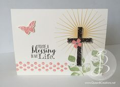Easter blessings using Kinda Eclectic and Blessed by God Stampin' Up! stamp sets.