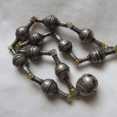 Turkmenistan - Yomud tribal Antique silver necklace