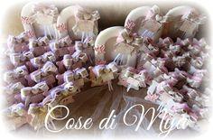Cose di Mya: Cornici in ceramica per il Battesimo di Irene