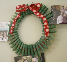 Clothes pin wreath! Crafted at the Standing Rock Indian Reservation this summer.