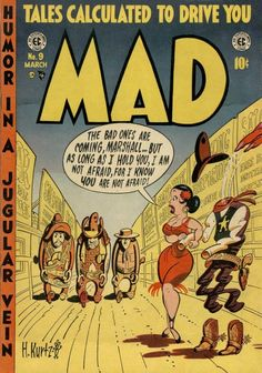 MAD MAGAZINE COVERS, 1952-1955