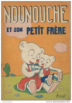 12 Albums de Nounouche/la Petite Ourse/Textes et dessins de DURST/ Imprimerie Giraud-Rivoire/Lyon/ Vers1940 à 1953  BD25