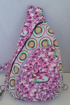 Summit Pack,  Sling Bag, Pink Foxes, Crossbody Bag, Backpack, Summer Purse, Hiking Bag, Teardrop Bag, Camping Bag, Tula Pink Chipper by DaysBetweenDesigns on Etsy