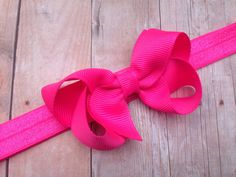 A personal favorite from my Etsy shop https://www.etsy.com/listing/198536171/neon-pink-headband-neon-pink-bow