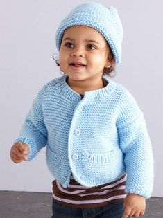 Knit A Simple Style Baby Cardigan and Hat Free Pattern ⋆ Knitting Bee häkeln , Knit A Simple Style Baby Cardigan and Hat Free Pattern ⋆ Knitting Bee Stricken Sie eine einfache Art-Baby-Wolljacke und eine Hut-freies Muster, strick. All Free Knitting, Baby Cardigan Knitting Pattern Free, Beginner Knitting Patterns, Knitting For Kids, Easy Knitting, Cardigan Pattern, Crochet Crown, Crochet Baby, Afghan Crochet