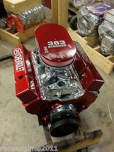 383 STROKER MOTOR 505HP ROLLER TURN KEY PRO STREET CHEVY CRATE ENGINE  SBC CNC