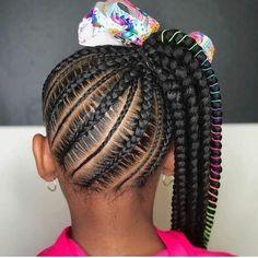 Lil Girl Hairstyles Braids, Black Little Girl Hairstyles, Braided Cornrow Hairstyles, Black Girl Braided Hairstyles, Long Hairstyles, Cornrow Styles For Kids, Braid Styles For Girls, Braids For Kids, Girls Braids