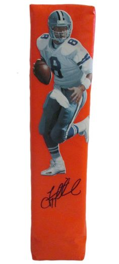 Troy Aikman Autographed Dallas Cowboys Full Size Photo Football End Zone Touchdown Pylon. This is a brand-new custom Troy Aikman signed Dallas Cowboys photo full sizefootball end zone pylon. This pylon measures 4inches (Width) X 4inches (Length) X 18inches (Height).Troysigned the pylonin black sharpie.Check out the photo of Troysigning for us. ** Proof photo is included for free with purchase. Please click on images to enlarge. Please browse our websitefor additional NFL & NCAA…