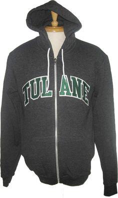 880fddb73d7 Tulane American Apparel Full Zip Sweatshirt