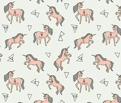 unicorns // unicorn mustard yellow cute custom fabric by andrea_lauren for sale on Spoonflower Unicorn Pattern, Unicorn Print, Unicorns, Andrea Lauren, Pretty Patterns, Fun Patterns, Sewing Patterns, Pattern Illustration, Surface Pattern