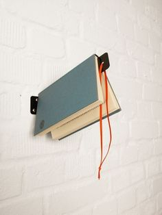 The Wall Bookmark Shelf | 25 Awesome DIY Ideas For Bookshelves