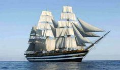 La nave scuola Amerigo Vespucci Ship Of The Line, Full Sail, Visit Italy, Tall Ships, Battleship, Sailing Ships, Sailor, Vehicles, Yachts