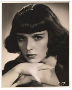FB Louise Brooks Fan Club · Louise's last Hollywood headshot from She was either 32 or 33 in this photo. Still gorgeous with poofy poodle hair! Thank goodness for the bangs because we'd probably wouldn't recognize her. Louise Brooks, Silent Film Stars, Movie Stars, Belle Epoque, Vintage Hairstyles, Bob Hairstyles, Classic Hollywood, Old Hollywood, Hollywood Divas