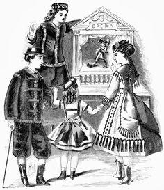 #family #puppet #opera #vintage #graphic #illustration #color #bizitalk
