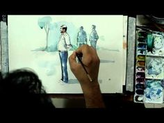 How To Make Figures in Watercolors by Artist Sikander Singh Chandigarh( INDIA ) - YouTube