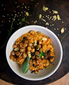 Sage Maple Chickpeas with Creamy Pumpkin Quinoa & Millet