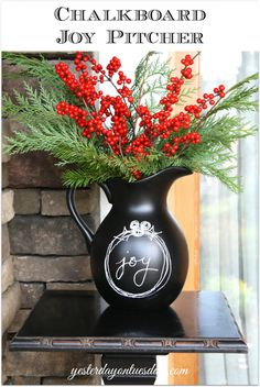 Recycle a unused pitcher into a beautiful chalkboard pitcher you can customize for any occasion