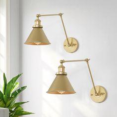 Swing Arm Wall Sconce, Wall Sconces, Powder Room Lighting, Mirror Cabinets, Modern Lighting, Modern Farmhouse, Pendant Lighting, Light Fixtures, Wall Lights