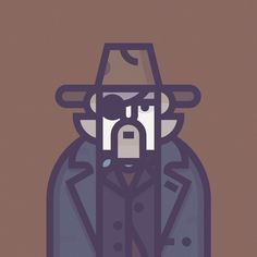 Rooster Cogburn - Illustrations of Coen's Movies Characters