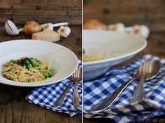 SaskiarundumdieUhr: Pasta mit Brokkoli Bacon Sahnesauce