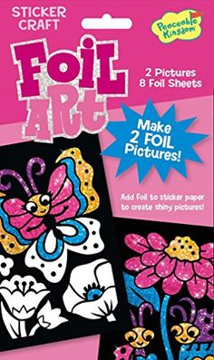 Peaceable Kingdom Foil Art Sweet Springtime Sticker Craft Pack *** Click image to review more details.